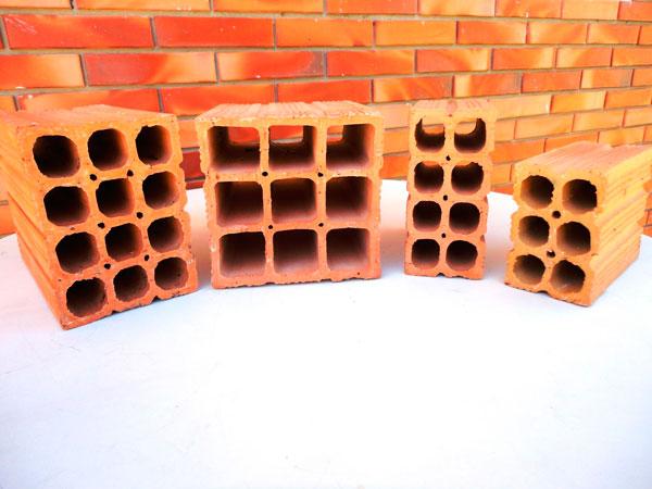 Diferentes tipos de tijolo para reformar