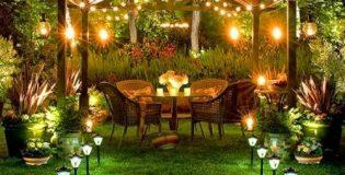 Veja opções para a iluminação e decoração da área externa