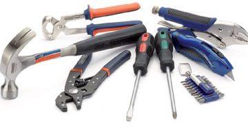 Conheça os tipos de ferramentas utilizadas em reparos e reformas