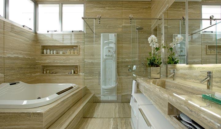 Tipos de móvel ideal pra banheiro  Master House -> Decoracao De Banheiro Com Bancada De Granito