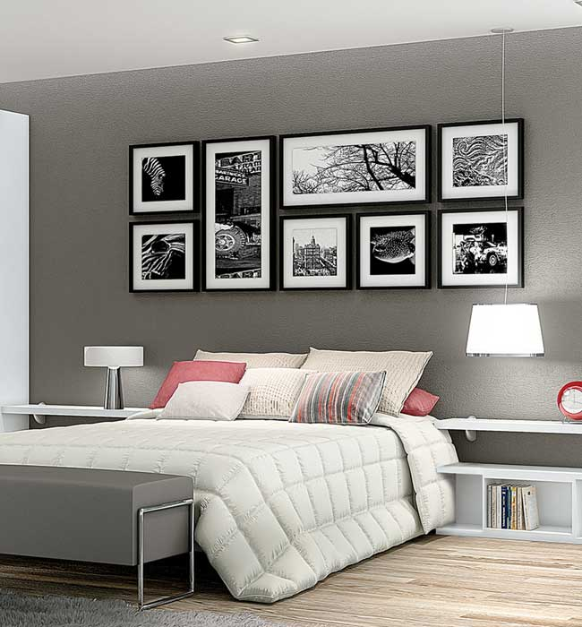 Decoração de quarto com quadro