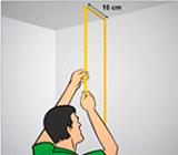 Medição de paredes para instalação de papel de parede