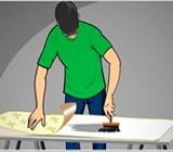 Aplicação de cola no papel de parede