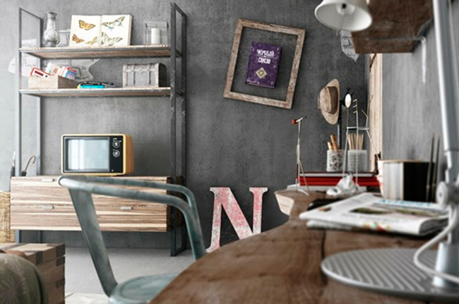 Decora o industrial master house for Mesa redonda estilo industrial