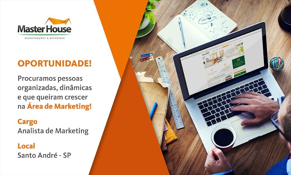Vaga Analista de Marketing - Master House