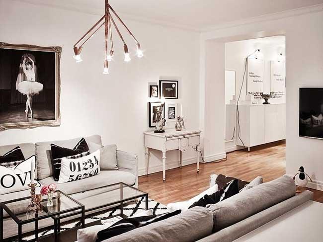 Decoração de sala em apartamentos pequenos