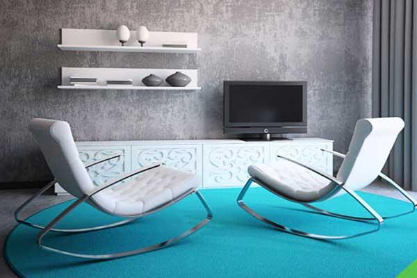 Grafiato cinza em sala de estar