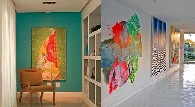 corredores com pinturas