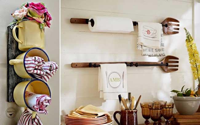 decoração com utensílios domésticos