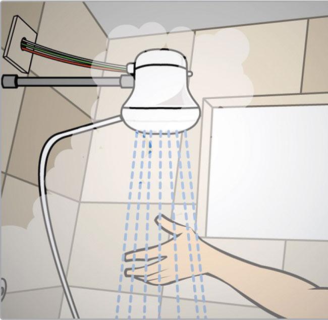 como regular temperatura do chuveiro elétrico