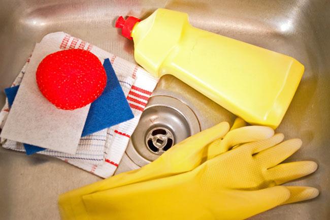 produtos de limpeza para pia