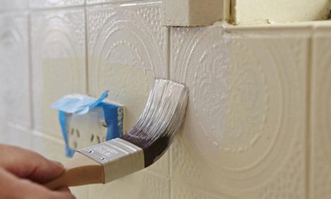 pintura de azulejos com relevo
