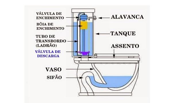estrutura vaso sanitário