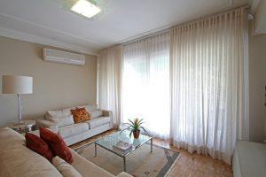 cortina com tecido fino