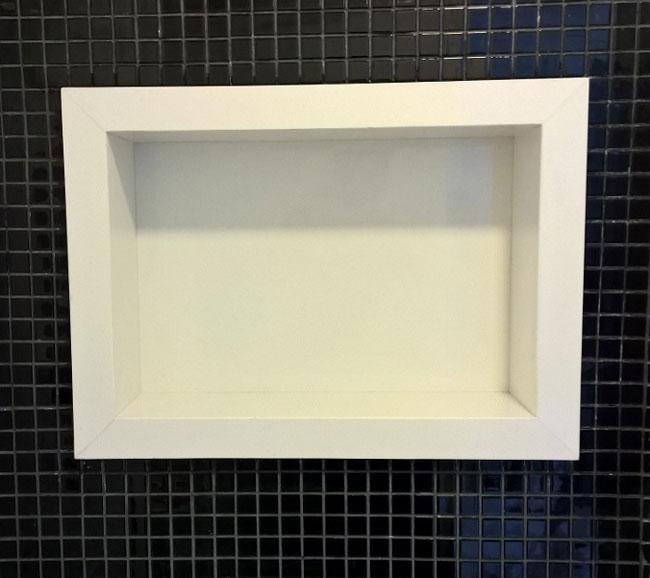 nicho para banheiro em mármore