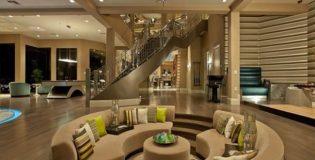 sala com decoração de luxo