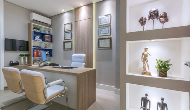 Decoração recepção consultório odontológico
