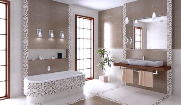 Revestimento em cerâmica para o banheiro